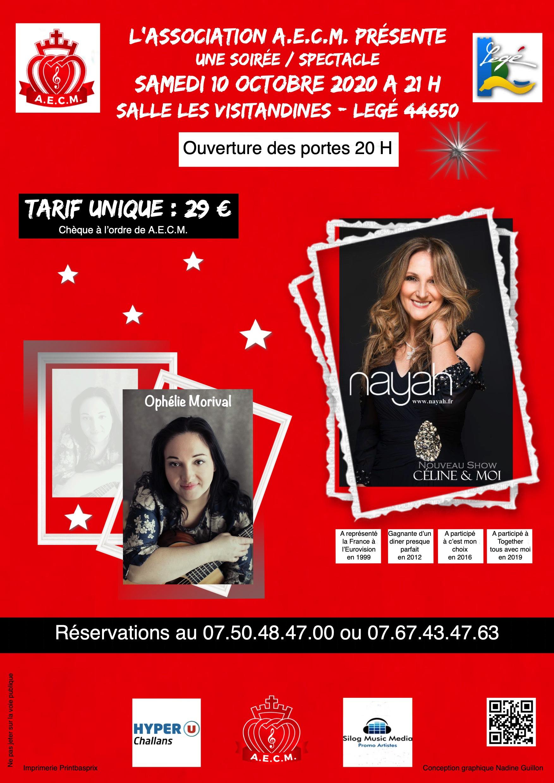 Concert à legé (44) avec Nayah et Ophélie Morival le 10 octobre 2020